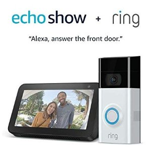 Ring Video Doorbell 2 with Echo Show 5 (Charcoal)