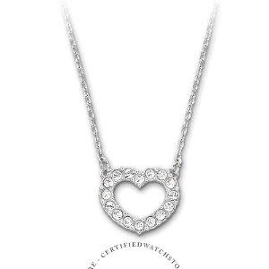 SwarovskiTowardsHeart Silver Size 15 inches Pendant Necklace