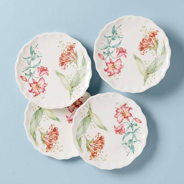 蝶舞花香餐盘4个