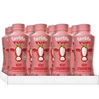 低脂草莓牛奶, 14 fl oz, 12瓶