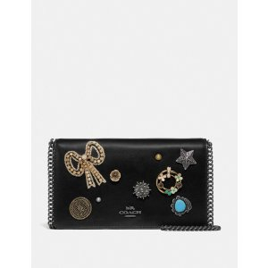 CoachCallie Foldover Chain Clutch With Vintage Jewelry