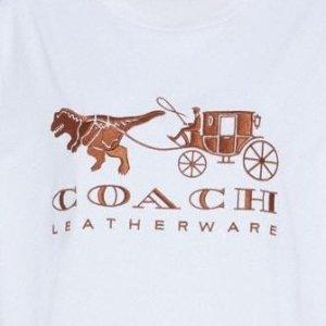 8折起+满额减€100!联名款都参与折扣升级:Coach 全场美衣折上折 新款小恐龙、小马车、联名款卫衣超低价