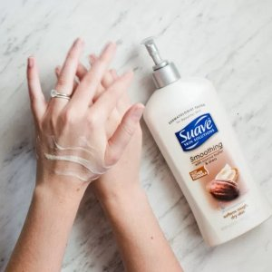 $1.47 Suave Skin Solutions Body Lotion, Smoothing with Cocoa Butter and Shea 3 oz