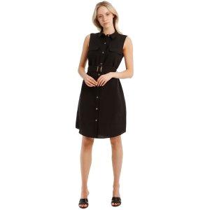 Basque无袖衬衫裙