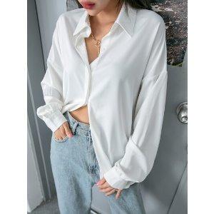 SheIn100%纯棉x DAZY oversize白衬衫