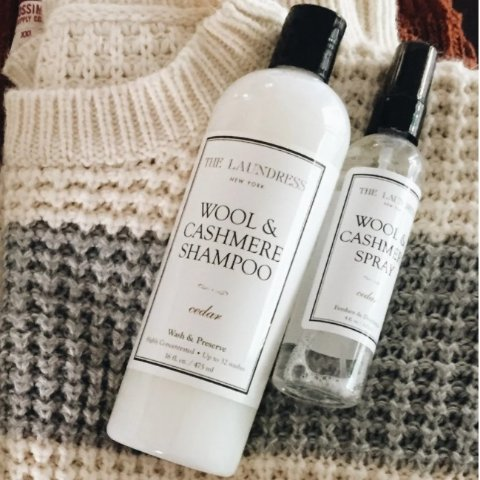The Laundress Wool & Cashmere Shampoo and Spray Duo
