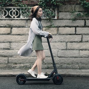 miXiaomi Mi Electric Scooter, 18.6 Miles Long-range Battery, Up to 15.5 MPH, Easy Fold-n-Carry Design, Ultra-Lightweight Adult Electric Scooter