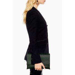 TopshopLEILA Green Clutch Bag