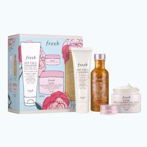 FreshRose Deep Hydration Skincare Gift Set
