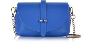 Le Parmentier Caviar Small Blue Leather Shoulder Bag