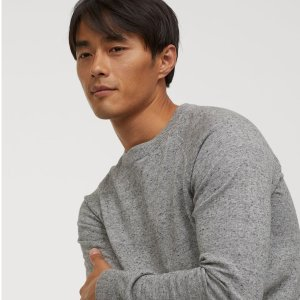 H&M Cotton Raglan-Sleeved Sweater on Sale