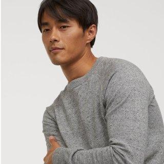 H&M 精选男士百搭基础款纯色毛衣特卖