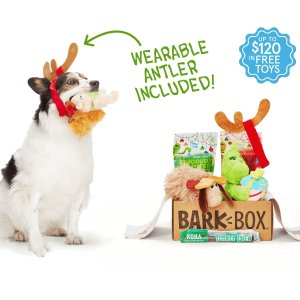 Free Extra Toy Each MonthWith the Purchase of a 6-, 12-Month Subscription @ Barkbox