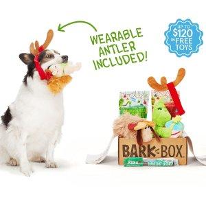 每月可免费获得一个汪星人玩具Barkbox 狗狗神秘订阅礼盒 为你家汪星人准备的专属礼物盒