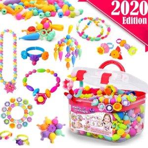 $18.98(原价$34.98)FunzBo 儿童多彩串珠套装,适合3-8岁儿童