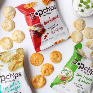 $12.33 一包只需$0.41Popchips 低热量非油炸薯片多口味30包装