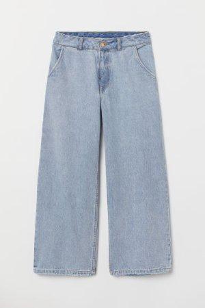 Wide High Jeans - Light denim blue -  | H&M US