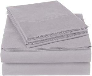 $19.99Pinzon 300支有机纯棉床单4件套 淡紫色 Queen
