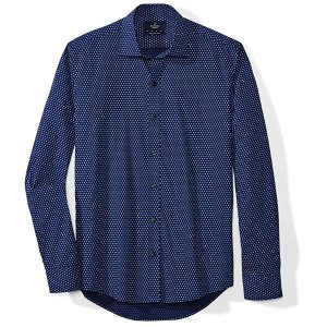 1906d32b BUTTONED DOWNAmazon Brand - BUTTONED DOWN Men's Slim Fit Spread-Collar  Supima Cotton Dress Casual