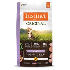 低至8折+额外9折Instinct 精选幼猫干粮、湿粮罐头促销