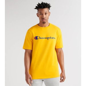 Champion Heritage Script Embro Tee (Yellow) - T1919G549-YC | Jimmy Jazz