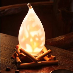 到手价$259.03 日本直邮!xiji西集网ゆらぎ照明 TAKIBI 日式木质创意篝火台灯 热卖