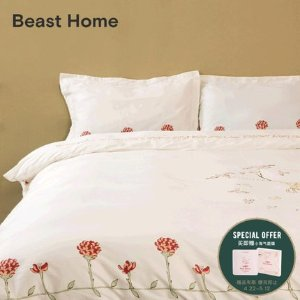 THE BEAST易烊千玺同款 全棉印花床上四件套小清新床品