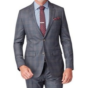 Dark Gray Glen Plaid Suit