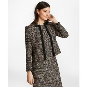 Grosgrain-Trimmed Boucle Jacket - Brooks Brothers