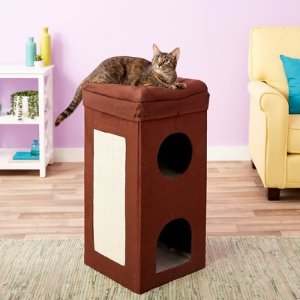 MidWest Curious Cube Condo Cat Bed - Chewy.com