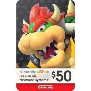 $41.95 (原价$50)Nintendo $50 eShop 兑换码