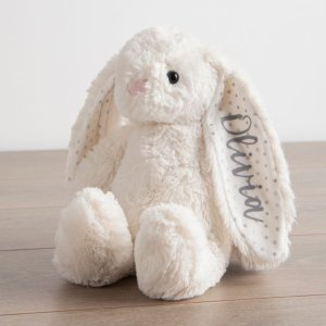 My 1st YearsPersonalized White Bunny Stuffed Animal