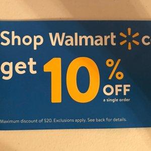 10% Off CouponOnline Order Discount @ Walmart