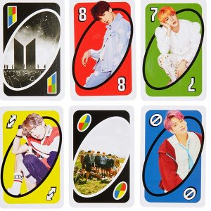 现价£6.99(原价£9.99)Uno X 防弹少年团限定版卡牌热促 风靡欧美经典游戏