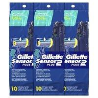 Gillette Sensor2 Plus 男士剃须刀 10个*3袋