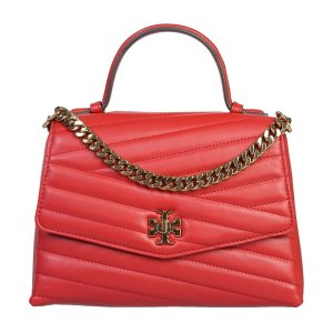 Tory BurchRed Quilted Leather Kira Satchel Bag