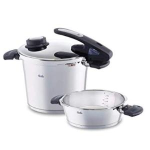 菲仕乐6L高压锅+2.5L不锈钢煎锅