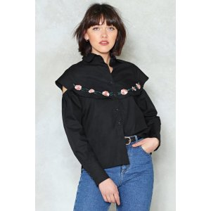 Nasty GalOver My Thread Embroidered Shirt | Shop Clothes at Nasty Gal!