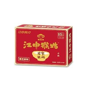 Jiangzhong Hougu Breakfast Rice Cereal 15 Packs - Black Sesame 江中猴姑早餐米稀黑芝麻味15天装