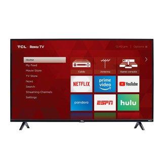 $199.99 (原价$249.99)TCL 49S325 49'' 1080p Roku 智能电视 2019款