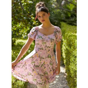 Disney Tangled Pascal Floral Sweetheart Dress