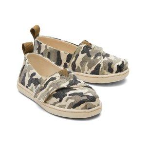 Toms儿童迷彩渔夫鞋