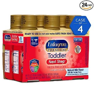 EnfagrowPREMIUM Toddler Next Step, Natural Milk Flavor - Ready to Use Liquid, 8 fl oz, Pack of 4 (6 count)