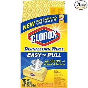 $2.59 销量冠军Clorox 消毒湿巾超值便携装 75片