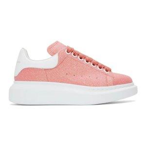 Alexander McQueen粉色小白鞋