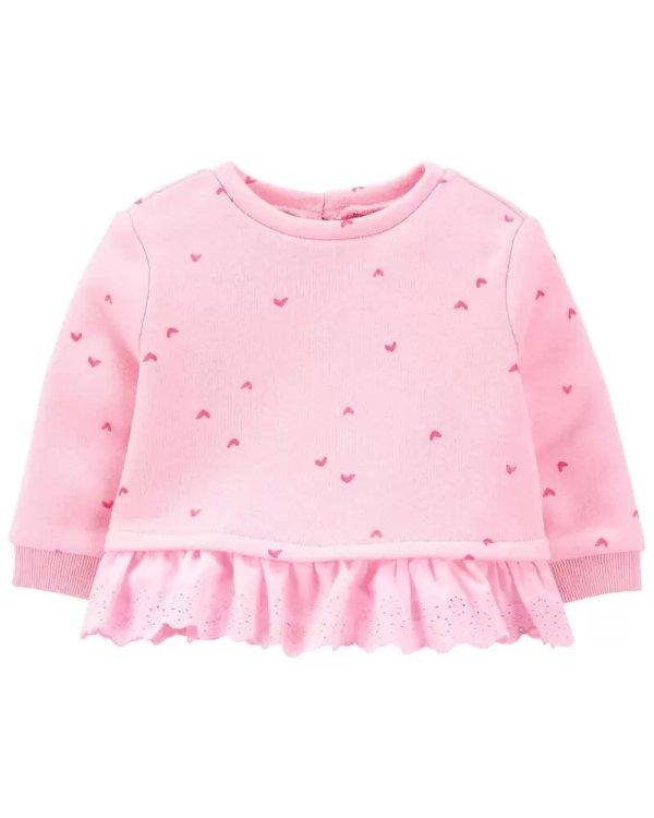 爱心图案 婴儿、幼童卫衣