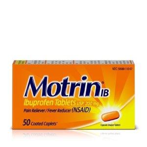 Motrin 布洛芬止痛片, 50 Count