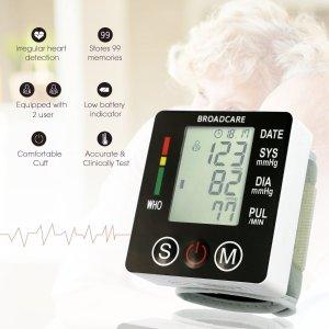 $22.86(原价$35.56)闪购:BROADCARE BC-2001 数字腕式电子血压计