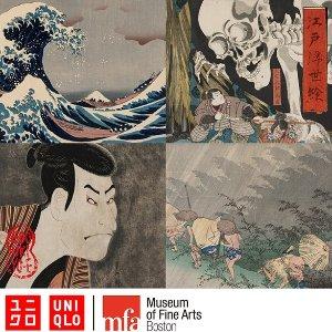 满£60减£10 神奈川冲浪里短袖£12.9上新:Uniqlo 日本和风上线 古典又优雅 收浮世绘、源氏物语初冬穿搭