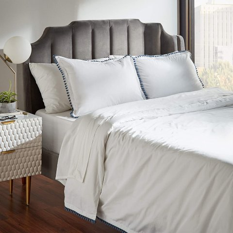 $16.71Rivet Pom-Pom Duvet Comforter Cover Set, King